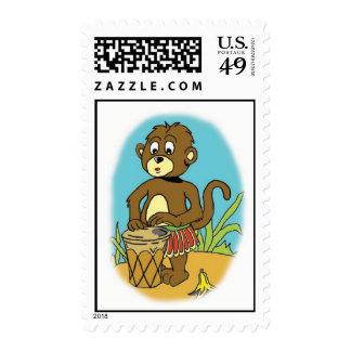 Franqueo del chimpancé de la selva