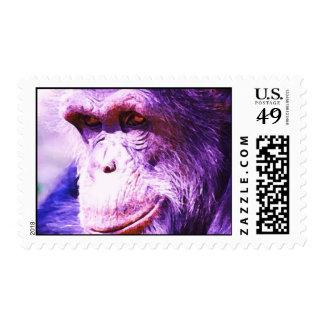 Franqueo del chimpancé sellos postales