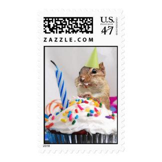 Franqueo del Chipmunk de la fiesta de cumpleaños Sello