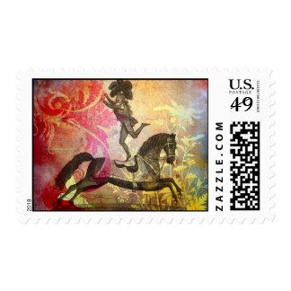 Franqueo del circo del vintage timbres postales
