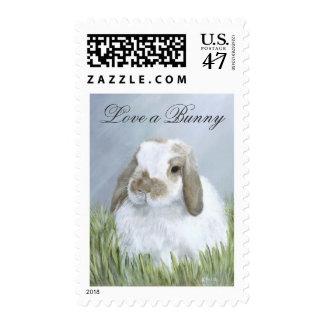 Franqueo del conejito timbres postales