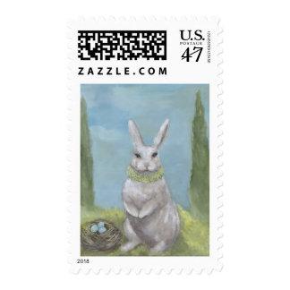 Franqueo del conejo estampilla