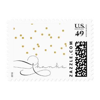 Franqueo del confeti sellos