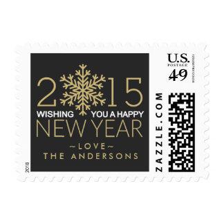 Franqueo del copo de nieve de la Feliz Año Nuevo