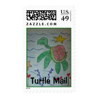 franqueo del correo de la tortuga estampillas