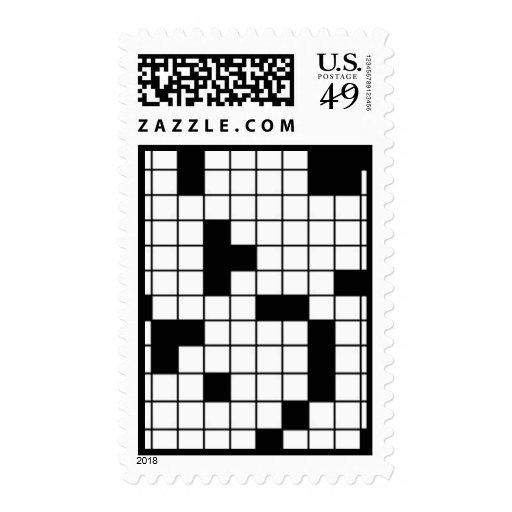 Franqueo del crucigrama timbre postal