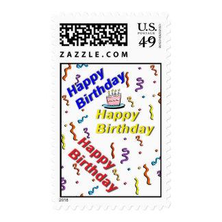Franqueo del cumpleaños de la torta del feliz cump