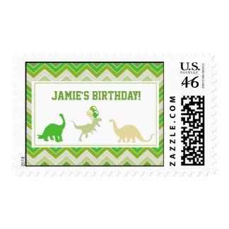 Franqueo del cumpleaños del dinosaurio