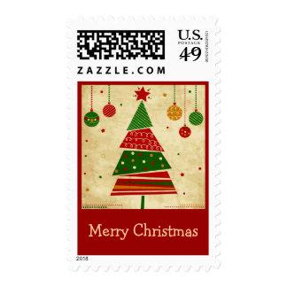 Franqueo del día de fiesta del árbol de navidad de