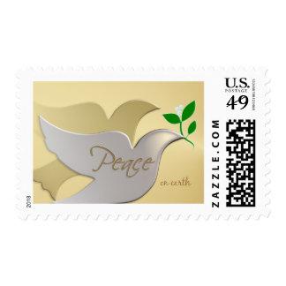 Franqueo del día de fiesta del navidad - paz en timbres postales