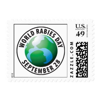 Franqueo del día de la rabia del mundo timbre postal