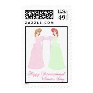 Franqueo del día de las mujeres internacionales fe sellos