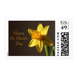 Franqueo del día de St David Timbres Postales