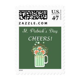 Franqueo del día de St Patrick verde de la cerveza Sello Postal