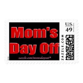 Franqueo del día libre de la mamá, rojo y negro