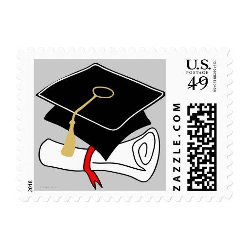 Franqueo del dibujo animado del diploma del casqui