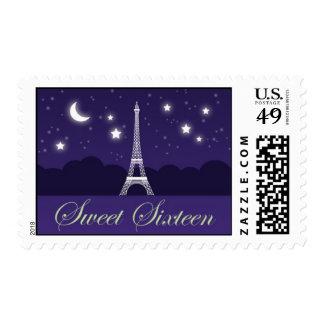 Franqueo del dulce dieciséis de la torre Eiffel Estampilla