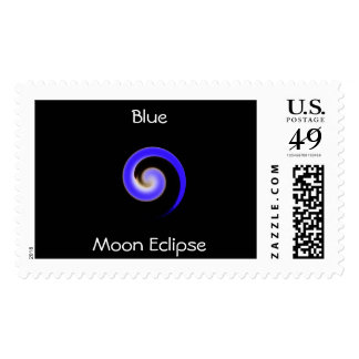 Franqueo del eclipse de la luna azul