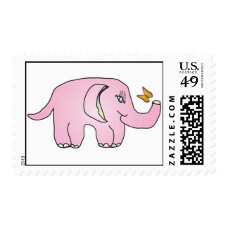 Franqueo del elefante rosado