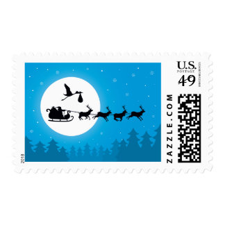 Franqueo del embarazo del navidad sellos