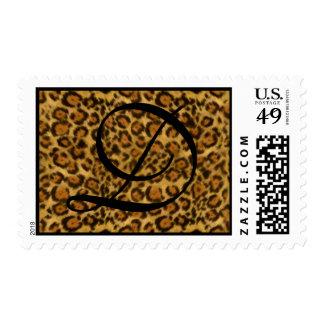 Franqueo del estampado leopardo sellos postales