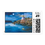 Franqueo del faro de la colina del castillo timbres postales