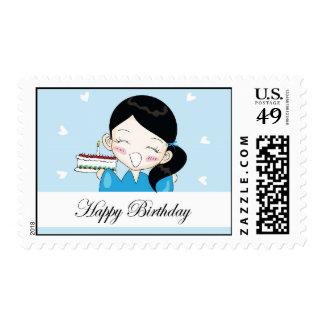 franqueo del feliz cumpleaños de Yuki-chan