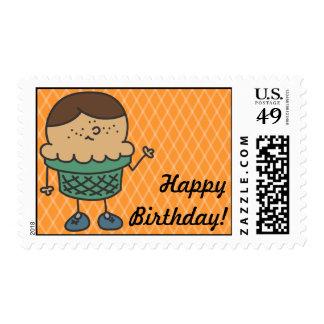 Franqueo del feliz cumpleaños del cono de Lil Itty