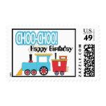 Franqueo del feliz cumpleaños del tren de Choo Cho