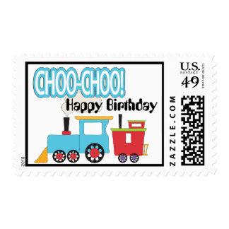 Franqueo del feliz cumpleaños del tren de Choo Sello