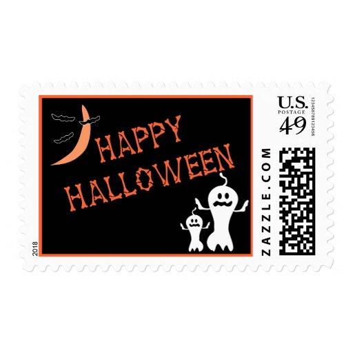 Franqueo del feliz Halloween Estampilla