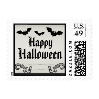 Franqueo del feliz Halloween - moreno ligero y Sello Postal
