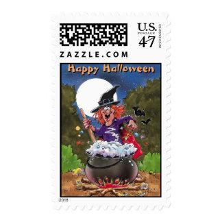 Franqueo del feliz Halloween Timbre Postal