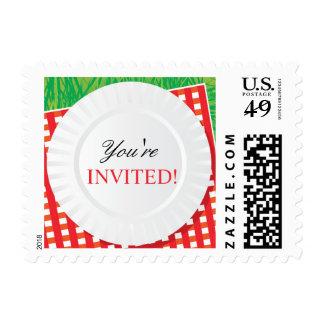 Franqueo del fiesta de la comida campestre de los timbre postal