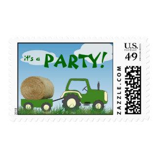 Franqueo del fiesta del tractor sellos postales