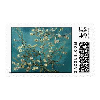 Franqueo del flor de la almendra sello postal