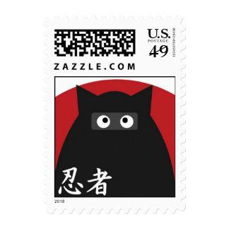 Franqueo del gatito de Ninja