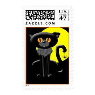 Franqueo del gato negro sello