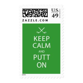 Franqueo del golf - guarde la calma y ponga encend