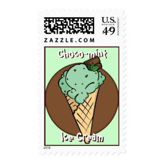 Franqueo del helado del Chocolate-microprocesador