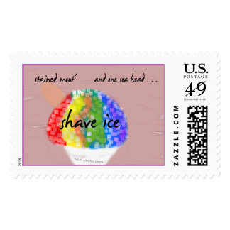 Franqueo del hielo del afeitado timbres postales