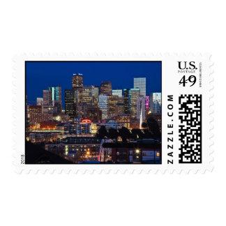 Franqueo del horizonte de Denver Timbre Postal