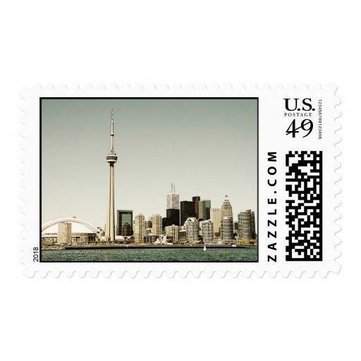 Franqueo del horizonte de Toronto Sello Postal