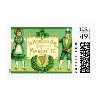 Franqueo del irlandés del día de St Patrick del Timbre Postal