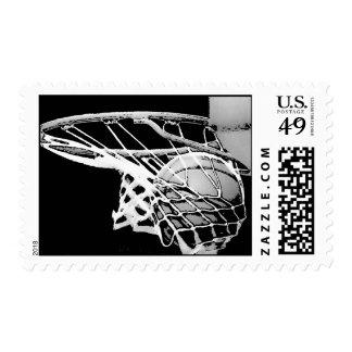 Franqueo del juego de baloncesto sellos postales