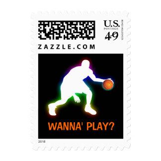 Franqueo del jugador de básquet