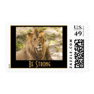 Franqueo del león sello
