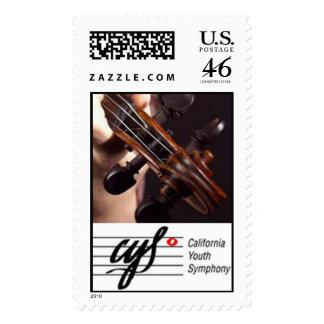 Franqueo del logotipo de la voluta del violín