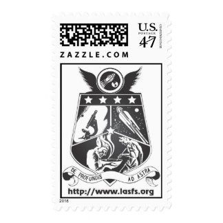 Franqueo del logotipo de LASFS blanco y negro Timbres Postales