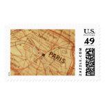 Franqueo del mapa del vintage de PARÍS